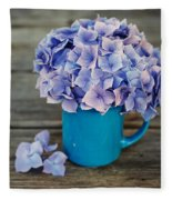 Hortensia Flowers Fleece Blanket