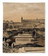 Hospital And Cemetery At Scutari, C.1854 Fleece Blanket