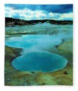 Hot Springs In Yellowstone. Fleece Blanket