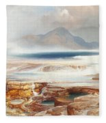 Hot Springs Of The Yellowstone Fleece Blanket