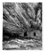 House On Fire Ruin Utah Monochrome 2 Fleece Blanket
