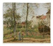 Houses At Bougival  Fleece Blanket