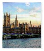 Houses Of Parliament Fleece Blanket