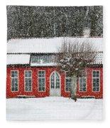 Hovdala Castle Orangery In Winter Fleece Blanket