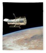Hubble At Work Fleece Blanket