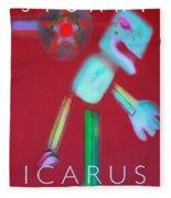 Icarus Falling Fleece Blanket