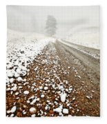 Ice Fog In Cypress Hills Provincial Park Of Saskatchewan Fleece Blanket