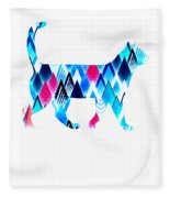 Ice Triangles Cats Fleece Blanket