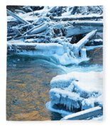 Icy Blue River Fleece Blanket