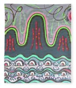 Ilwolobongdo Abstract Landscape Painting Fleece Blanket