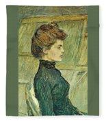 img296 Henri De Toulouse-Lautrec Fleece Blanket