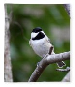 Img_4882 - Carolina Chickadee Fleece Blanket
