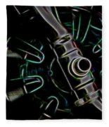 In Color Abstract 11 Fleece Blanket
