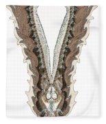 indian collar 3D effect Fleece Blanket