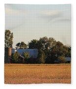 Indiana Farmland  Fleece Blanket