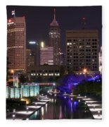 Indianapolis Canal View Fleece Blanket