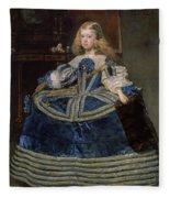 Infanta Margarita Teresa In A Blue Dress Fleece Blanket