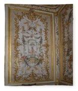 Inside Chantilly Castle France Fleece Blanket