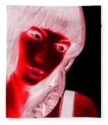 Inverted Realities - Red  Fleece Blanket