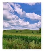 Iowa Cornfield Fleece Blanket