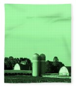 Iowa Farm Panorama Fleece Blanket