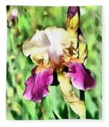 Iris Flower Fleece Blanket