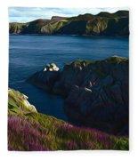 Irish Seascape Fleece Blanket