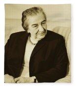 Israel Prime Minister Golda Meir 1973 Fleece Blanket