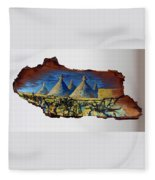 Italy Village Fleece Blanket