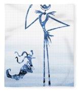 Jack With Zero-blue Fleece Blanket