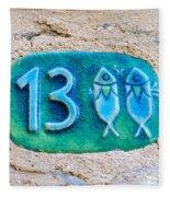 Jaffa, Pisces Zodiac Street Sign  Fleece Blanket