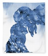 Jane And Tarzan-blue Fleece Blanket