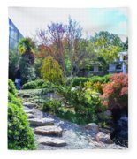Japanese Garden 3 Fleece Blanket