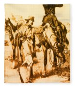 J.c. Fremont And His Guide, Kit Carson Fleece Blanket