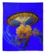 Jellyfish At California Academy Of Sciences In San Francisco, California Fleece Blanket
