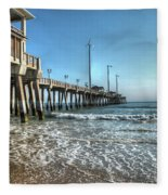 Jennettes Pier Nags Head North Carolina Fleece Blanket