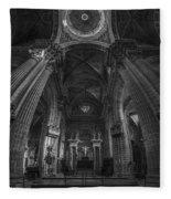Jerez De La Frontera Cathedral Dome From Inside Cadiz Spain Fleece Blanket