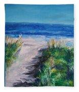 Jersey Shore Dunes Fleece Blanket