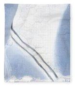 Jerusalem- Tryptich Part 1 Fleece Blanket