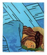 Jesus Falls Fleece Blanket