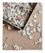 Jigsaw Puzzle Fleece Blanket