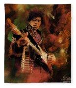 Jimi Hendrix 01 Fleece Blanket