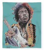 Jimi Hendrix 1 Fleece Blanket