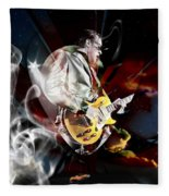 Joe Bonamassa Blue Guitarist Art Fleece Blanket