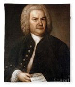 Johann Sebastian Bach, German Baroque Fleece Blanket