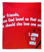 1 John Bible Verse Fleece Blanket