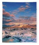 Jokulsarlon Glacier Lake - Iceland Fleece Blanket