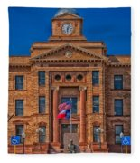 Jones County Courthouse Fleece Blanket