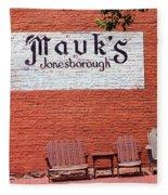 Jonesborough Tennessee Mauk's Store Fleece Blanket