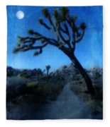 Joshua Trees At Night Fleece Blanket